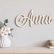 Nombre en madera natural