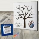 Cuadro huellas de Boda con foto personalizada
