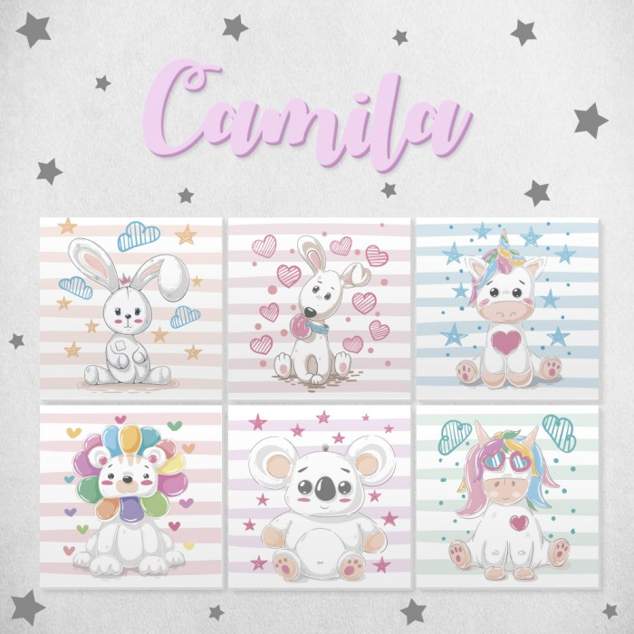 "Pack decorativo infantil ""Animalitos Cutes"""