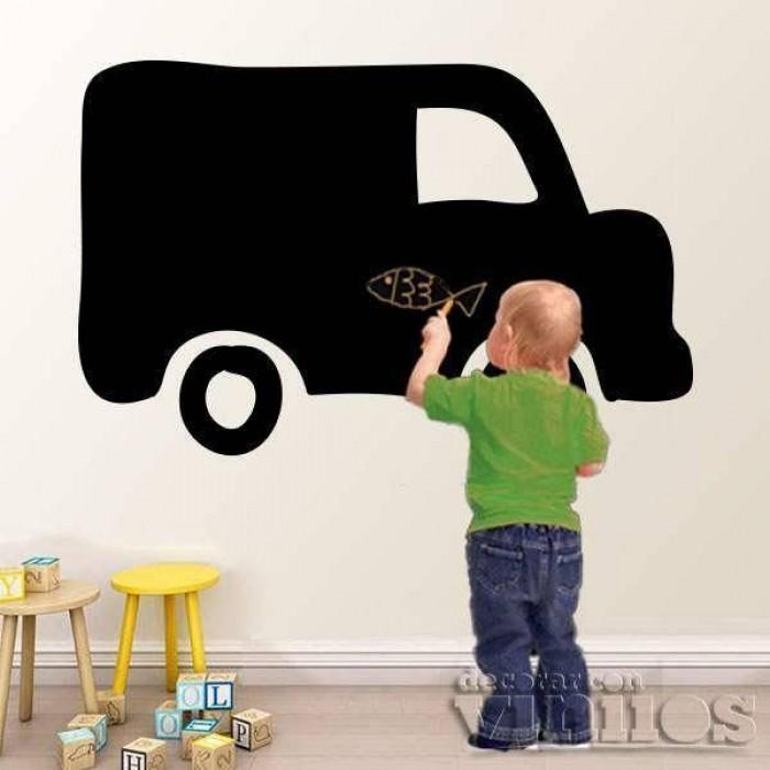 Vinilo Infantil Pizarra - Camion