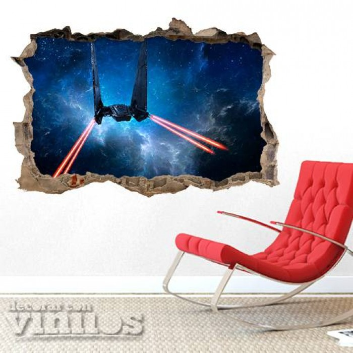 Pared Rota 3D - Star Wars