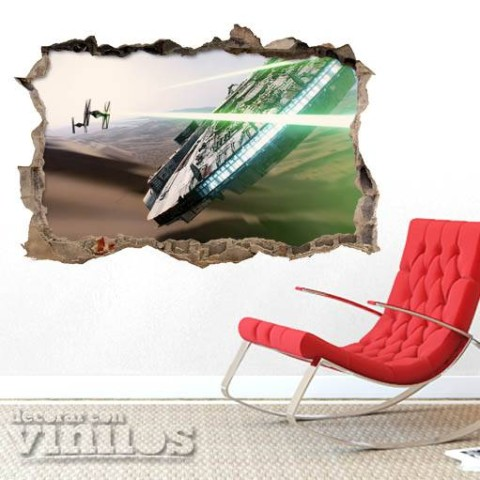 Pared Rota 3D - Star Wars 2