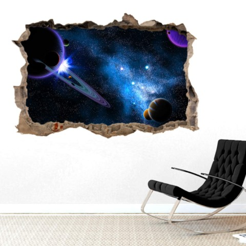 Pared Rota 3D - Planetas