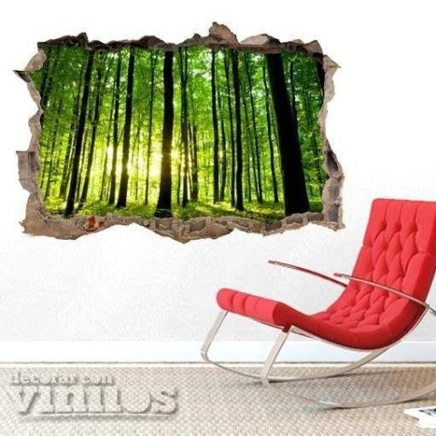 Pared Rota 3D - Bosque