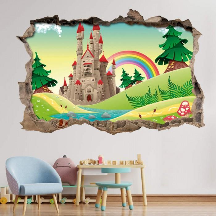 Pared Rota 3D Infantil - Castillo