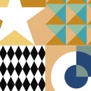 Azulejos de vinilo Geometricos 36 unidades