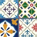 Azulejos de vinilo - Diseño Talavera 36 unidades