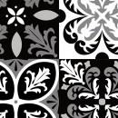 Azulejos de vinilo - Diseño Portugueses Negras 36 unidades