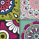 Azulejos de vinilo - Diseño Mandala 36 unidades