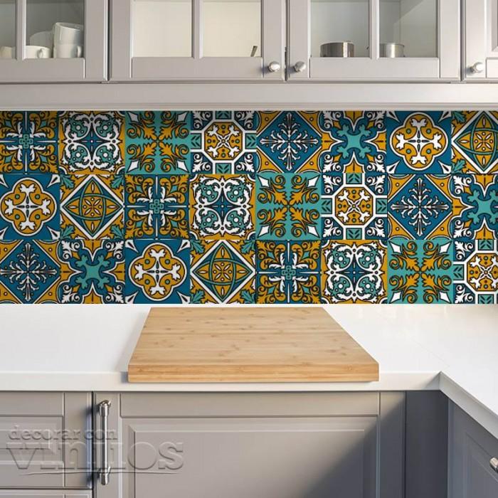 Azulejos de vinilo - Diseño Marruecos 36 unidades