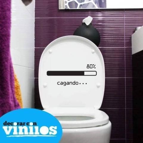 Vinilos para baños - Cagando (25x11cms)