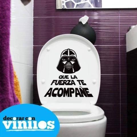 Vinilos para baños - Que la fuerza te acompañe (25x25cms)