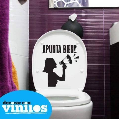 Vinilos para baños - Apunta bien (26x30cms)