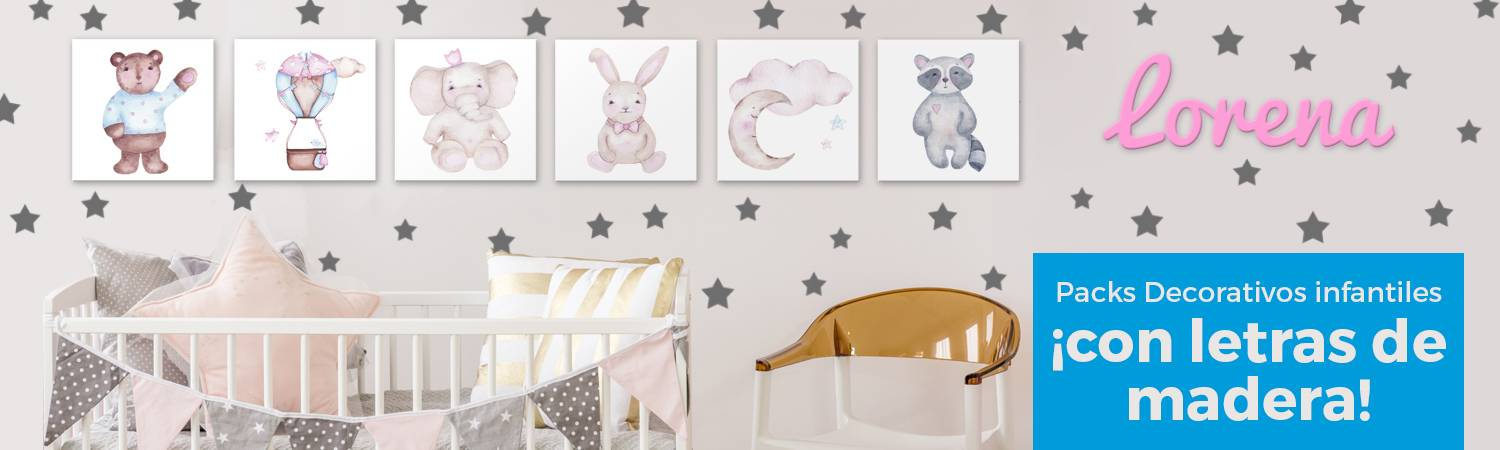 Packs decorativos infantiles