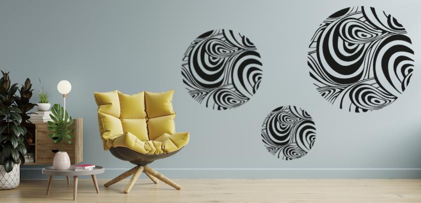 Dale un toque increíble a tus espacios con vinilos decorativos abstractos