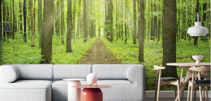 Conéctate con la naturaleza decorando con vinilos decorativos de bosques
