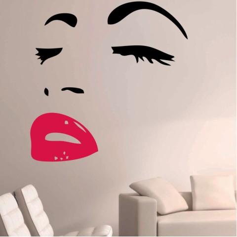 Vinilos Decorativos - Ojos y Labios Pop Art