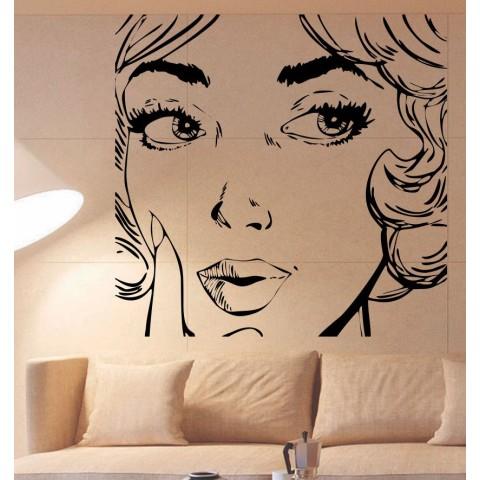 Vinilos Decorativos - Rostro Mujer Pop Art