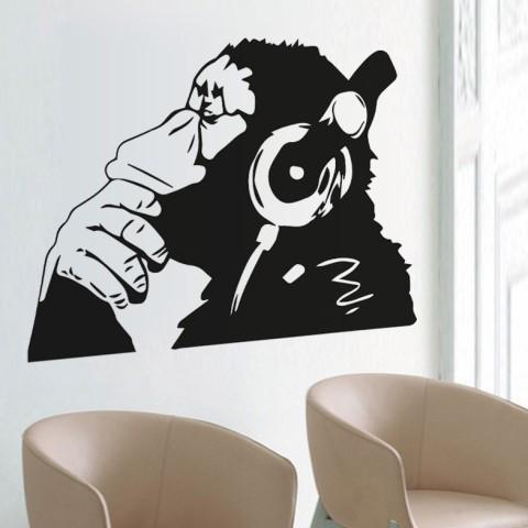 Vinilos Decorativos - Mono pensando