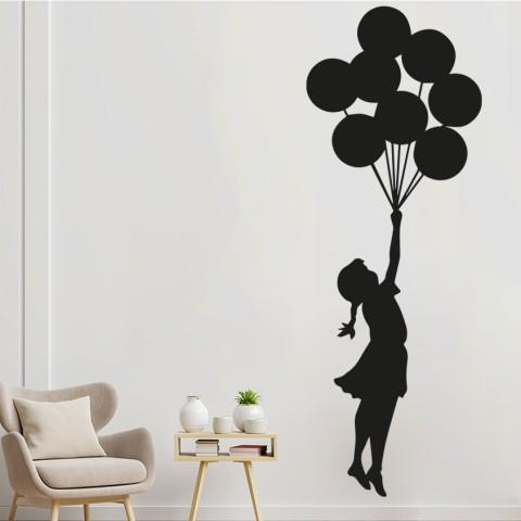 Vinilos Decorativos - Niña con globos