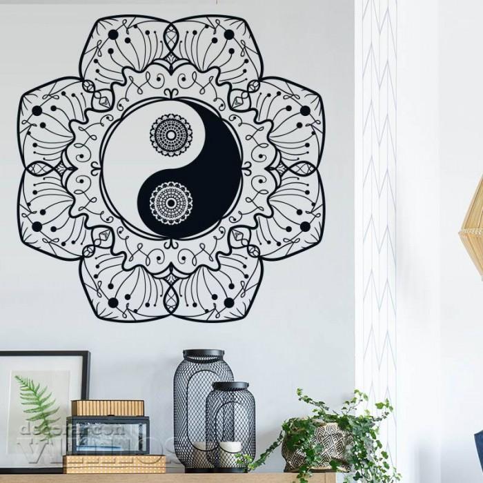 Vinilos Decorativos - Mandala Ying Yang