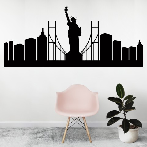 Vinilos Decorativos - Skyline New York 2