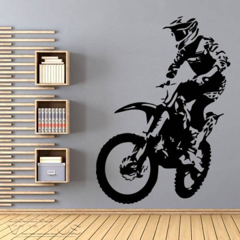 Vinilos Decorativos - Moto cross