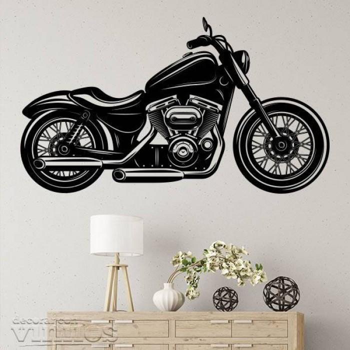 Vinilos Decorativos - Moto clasica