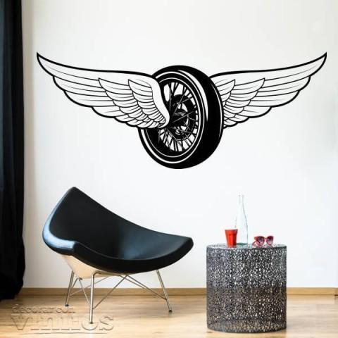 Vinilos Decorativos - Rueda con alas