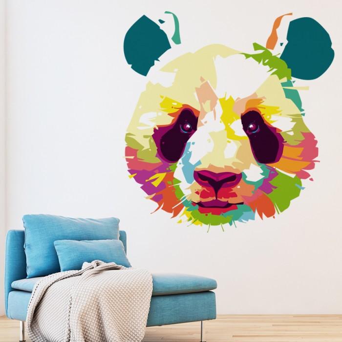 Vinilos Decorativos - Cabeza de panda