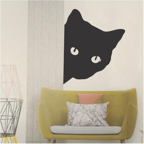 Vinilos Decorativos -  Cabeza de gato 2