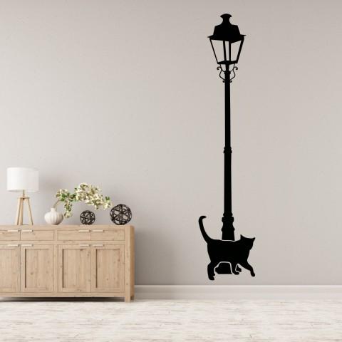 Vinilos Decorativos - Gato en la farola