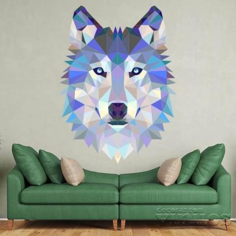 Vinilos Decorativos - Lobo de colores