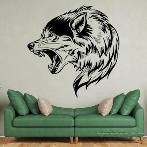 Vinilos Decorativos - Cabeza de Lobo