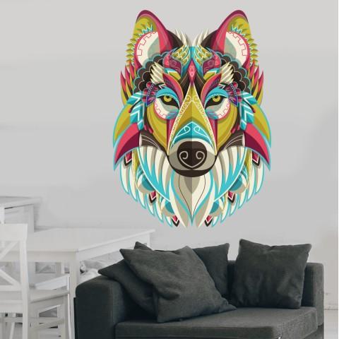 Vinilos Decorativos - Lobo colores