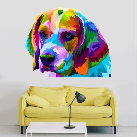 Vinilos Decorativos -  Perro colores