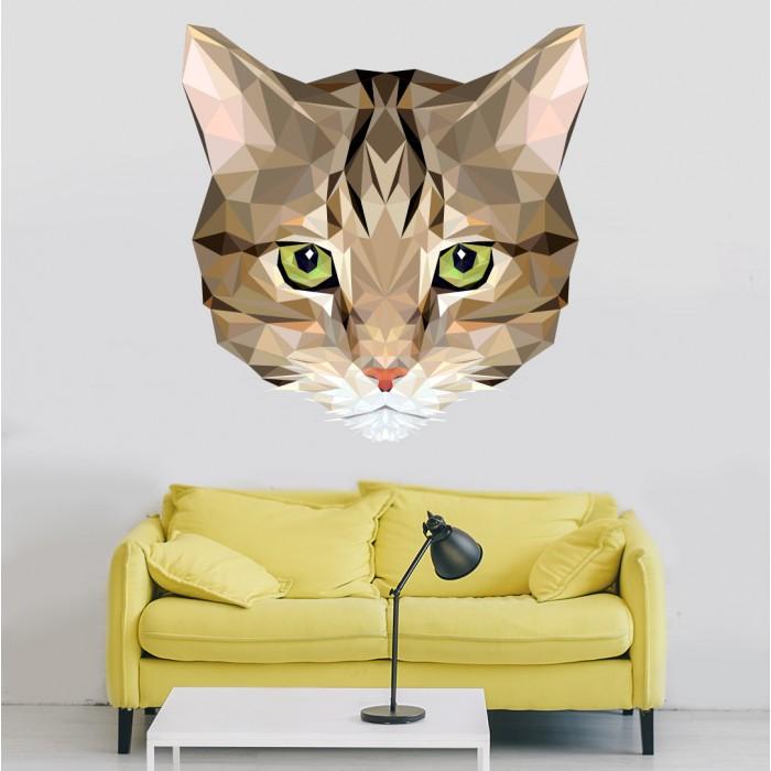 Vinilos Decorativos - Cabeza de colores de un gato