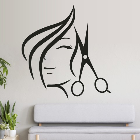 Vinilos Decorativos - Mujer tijera