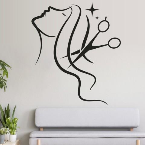 Vinilos Decorativos - Melena tijera