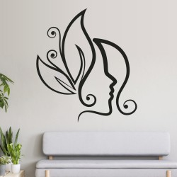 Vinilos Decorativos - Mujer flores