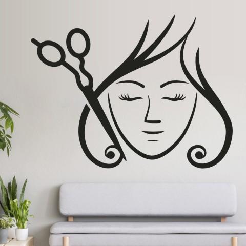 Vinilos Decorativos - Mujer tijeras