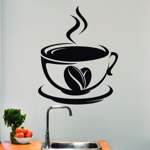 Vinilos Decorativos - Tazas de cafe