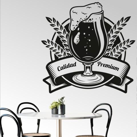 Vinilos Decorativos - Caña cerveza