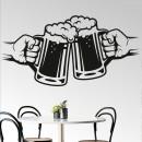 Vinilos Decorativos - Brindis con jarras cerveza