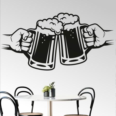 Vinilos Decorativos - Brindis cerveza