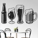 Vinilos Decorativos - Jarras de cerveza y un botellín