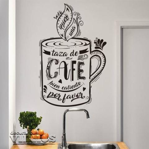 Vinilos Decorativos - Quiero una taza de café
