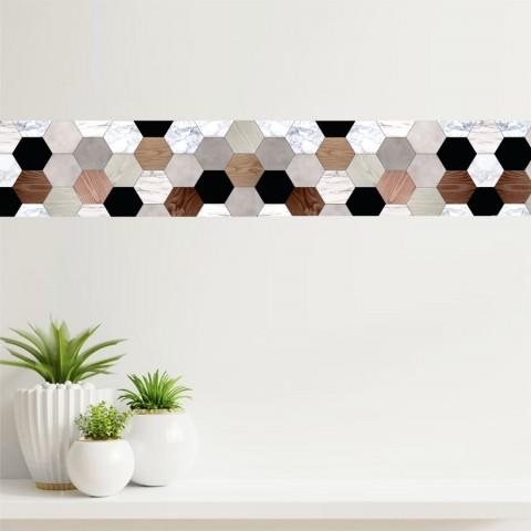 Cenefa - Hexagonos Azulejos