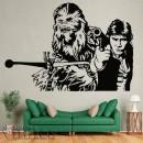 Vinilos Decorativos - Han Solo y Chewaka