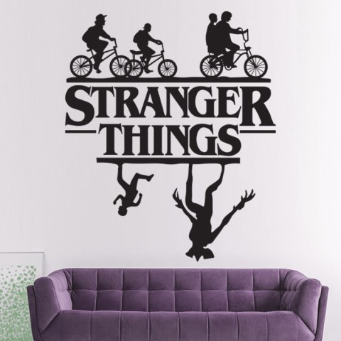 Vinilos Decorativos - Stranger Things con logo